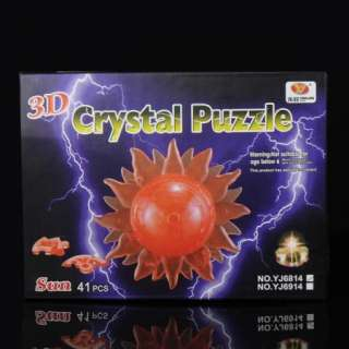 DIY 3D Warm Sun Crystal Jigsaw Puzzle Decoration Toy