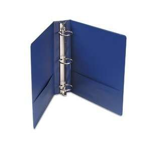 Suede Finish Vinyl Round Ring Binder, 2in Capacity, Royal Blue Camera