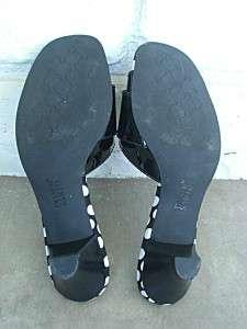 FRANCO SARTO Black Patent Leather & Polka Dot Heels 7 M