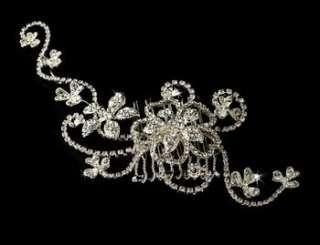 Silver Plated Crystal Rhinestone Wedding Bridal Hair Comb