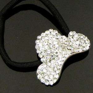 ADDL Item  1pc rhinestone crystal Cap hair scrunchie