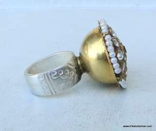 Vintage antique ethnic tribal huge 22k Gold Ring India