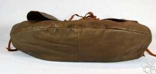LUCKY BRAND JEANS Hollywood & Vine Medium Brown Leather Flap Hobo Bag