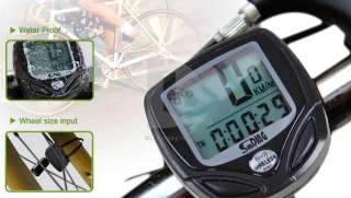 New Wireless LCD Bike Bicycle Cycling Computer Odometer Speedometer