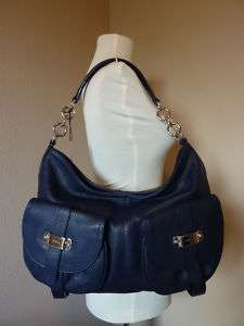 NWT FURLA Midnight Blue Leather Olimpia Hobo Bag $645