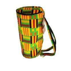Kente Cloth Large Djembe Drum Bag (Ghana)