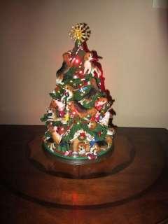Danbury Mint Rare Beagle Table Top Illuminated Christmas Tree.