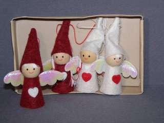 Scandinavian Swedish Christmas Ornaments 4 Angels Elves