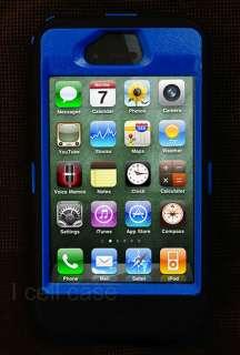 DEFENDER SERIES For iPhone 4 4S 4G 4GS Blue/Black   Custom Color
