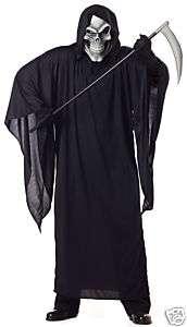 Men Scary Grim Reaper Plus Size Halloween Costume