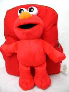NEW Plush Sesame Street Elmo doll Backpack bag / tote