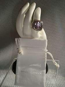 DAVID YURMAN SS RING PAVE DIAMOND 15mm LAVENDER AMETHYST BEAUTY