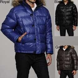 MICHAEL Michael Kors Mens Faux Fur Hooded Puffer Coat