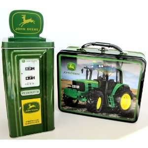 Gift Pack Of John Deere Tractor Classic Licensed Retro Themed Metal