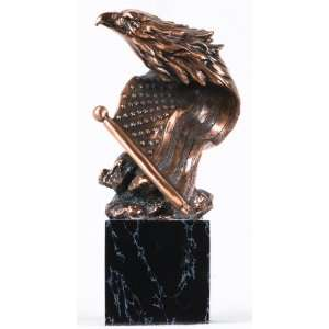 Bronze American Flag Eagle Sculpture (Free Shipping) Home & Kitchen