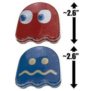 Pac Man Ghost Sours Candy 2 Tin Box Pack Grocery & Gourmet Food