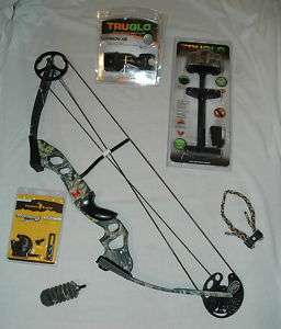 NEW PSE Spyder Compound Bow PKG MOBU Camo RH 70lb 27 30