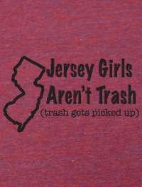 Trashy Jersey Shore Girl American Apparel TR401 T Shirt
