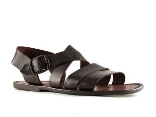 Handmade in Italy mens sandals in dark brown leather Size US 12   EU