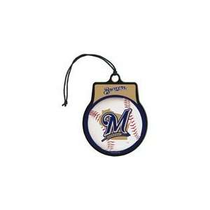 MLB Licensed Team Logo Air Freshener Vanilla Scent  Milwaukee Brewers