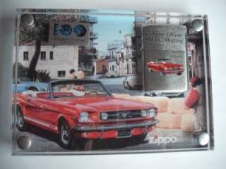 FORD MOTOR CO 100 YEARS ZIPPO LIGHTER DISPLAY 1964 1/2 MUSTANG