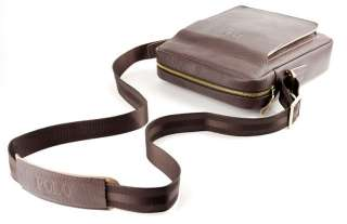 VIDENG POLO Mens Faux Leather Messenger Bag Briefcase Satchel Two
