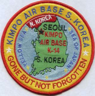 USAF BASE PATCH, KIMPO AIR BASE SOUTH KOREA *