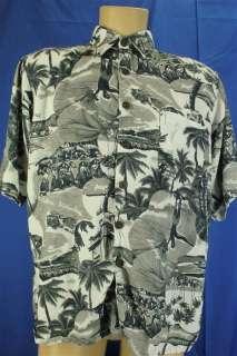 Hana Bay Beach Boys Girls Girls Girls Hawaiian Print Shirt Medium