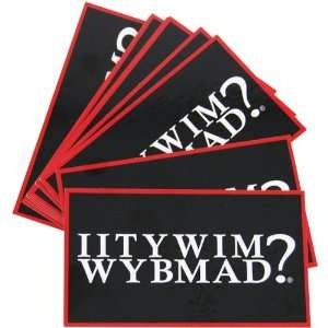 IITYWIMWYBMAD? Laminated Wallet Cards   Set of 10 Kitchen