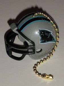 Carolina Panthers NFL Football Helmet Light / Fan Pull with Brass