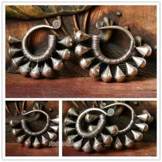 ETHNIC JEWELRY TRIBAL MIAO HANDMADE EARRINGS / JE147