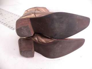 Steve Madden Gold Leather 5 6 ? Womens Western Boots