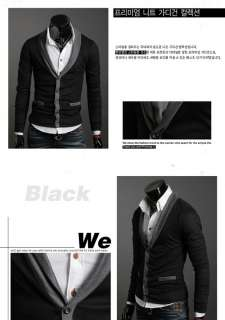 2012 NEW Fashion MENS CASUAL Slim V Neck KNITWEAR SWEATER Cardigan 3
