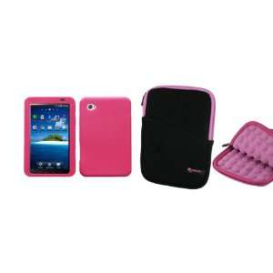 Super Bubble Neoprene Sleeve Case (Black / Pink) and Premium Skin Case
