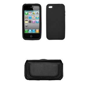 AT&T Apple Iphone 4 Case Cover Silicone Black Cell Phone