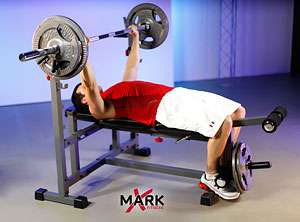 XMark Olympic Weight Bench with Leg Curl XM 4421 846291001186