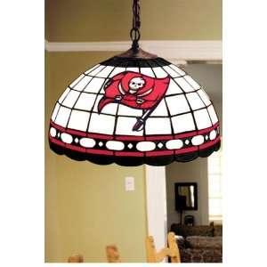 Team Logo Hanging Lamp 16hx16l Tampabay Bucs: Home