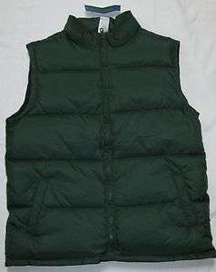 NWT Gymboree CANINE ACADEMY Green Puffer Vest L 10