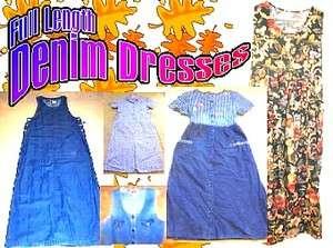 Full Length Denim Dresses ~Various Brands~ NWT/NWOT Sizes XS XL