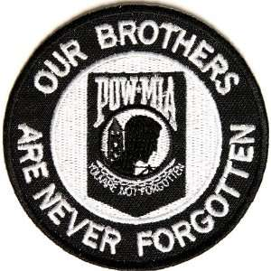 POW MIA Patch   Our Brothers are Never Forgotten, 3x3 inch