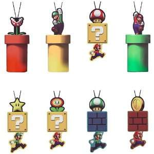 Super Mario Brother Animated Phone Strap Set (8/set) Toys