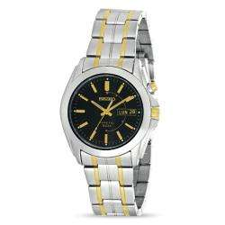 Seiko Mens Two Tone Stainless Steel Kinetic Watch