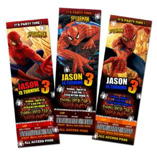 SUPER HERO BIRTHDAY PARTY INVITATION TICKET 1ST  c2 personalized cards