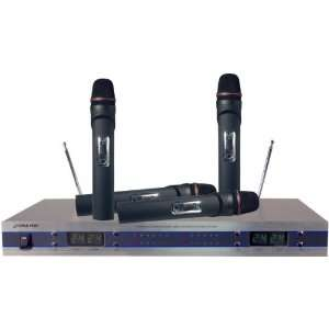 4 Channel VHF Wireless Microphone System   With Handheld