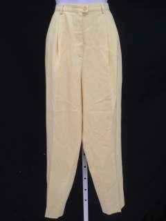 ESCADA Yellow Wool Knit Dress Pants Slacks Sz 40