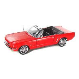 1964 1/2 Ford Mustang Convertible 1/18 Red Toys & Games