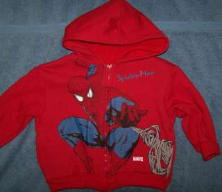Boys Hooded Zipper Sweater Sweatshirt Marvel SPIDER MAN