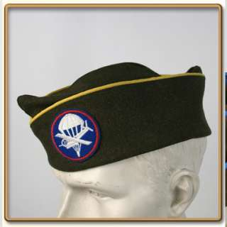 WW2 US Army EMs OD Wool Garrison Cap Engineer 57 61