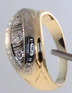 43ct diamond SI1 H gents ring estate vintage mens antique 6.4g