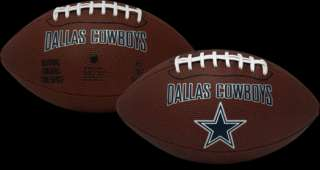 DALLAS COWBOYS ~ NFL Licensed Full Size Football with Kicking Tee